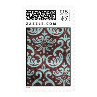 brown and green fabric stamp