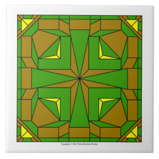 Brown And Green Megalith Tile
