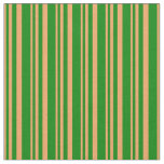 [ Thumbnail: Brown and Green Pattern Fabric ]
