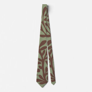 Brown and Green Plant Branches Tie