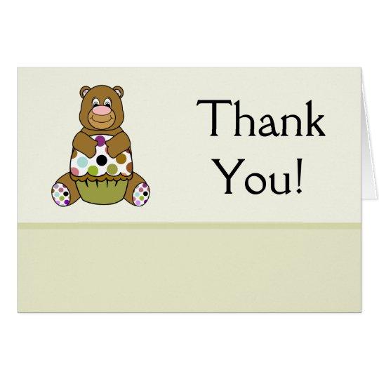 Brown And Green Polkadot Bear Card