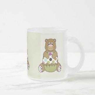 Brown And Green Polkadot Bear Coffee Mug