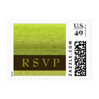 Brown and Green RSVP Postage