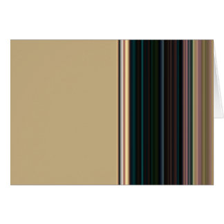 Brown and Green Stripe Blank Inside Card