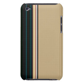 Brown and Green Stripe Case-Mate iPod Touch Case