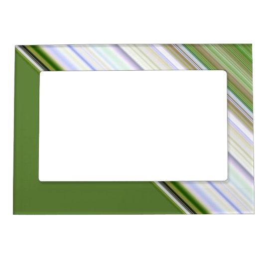 Brown and Green Stripe Magnetic Frame