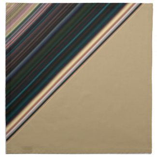 Brown and Green Stripe Napkins