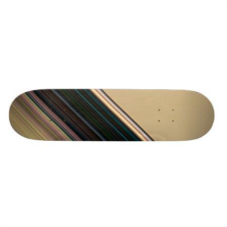 Brown and Green Stripe Skate Board