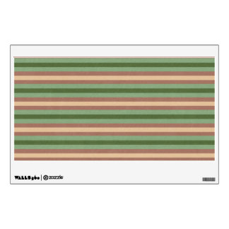 Brown and green stripes texture wall decal