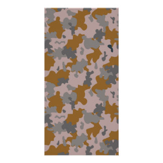 Brown and Grey Camouflage Card