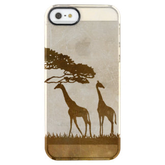 Brown and Ivory African Giraffe Wedding Clear iPhone SE/5/5s Case