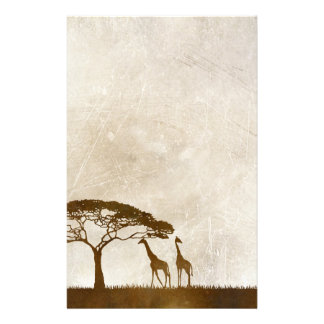 Brown and Ivory African Giraffe Wedding Stationery
