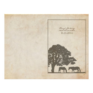Brown and Ivory Vintage Horse Farm Wedding Flyer