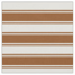 [ Thumbnail: Brown and Light Cyan Colored Pattern Fabric ]