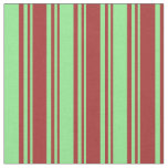 [ Thumbnail: Brown and Light Green Pattern Fabric ]