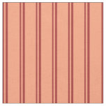 [ Thumbnail: Brown and Light Salmon Stripes/Lines Pattern Fabric ]