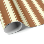 [ Thumbnail: Brown and Light Yellow Lines Pattern Wrapping Paper ]