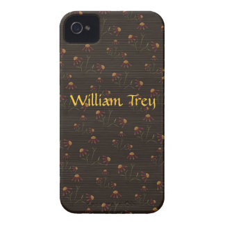 Brown and Maroon Floral Blackberry Case