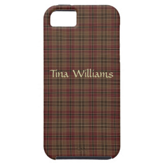 Brown and Maroon Plaid iPhone Case iPhone 5 Case
