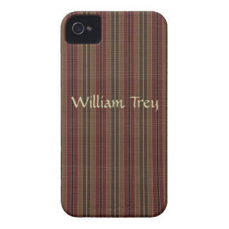 Brown and Maroon Striped Blackberry Case