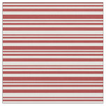 [ Thumbnail: Brown and Mint Cream Lines/Stripes Pattern Fabric ]