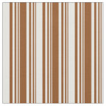 [ Thumbnail: Brown and Mint Cream Pattern Fabric ]