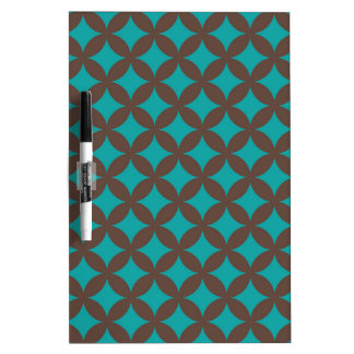 Brown and Mint Geocircle Design Dry-Erase Board