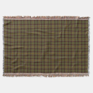 Brown and Moss Green Rustic Plaid Throw