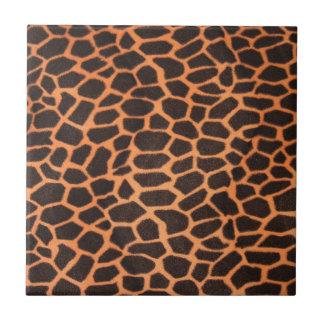 Brown And Orange Animal Pattern Tiles