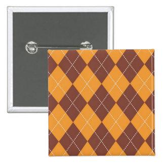 Brown and Orange Argyle Pattern Pins