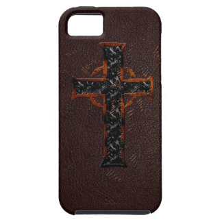 Brown and Orange Cross iPhone SE/5/5s Case