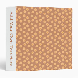 Brown and Orange Floral Pattern. 3 Ring Binder