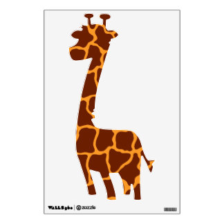 Brown and Orange Giraffe Wall Decal