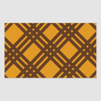 Brown and Orange Lattice Rectangular Sticker