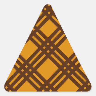 Brown and Orange Lattice Triangle Sticker