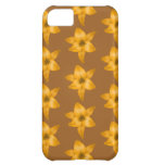 Brown and Orange Lily Pattern. Cover For iPhone 5C