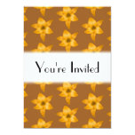 """Brown and Orange Lily Pattern. 5"""" X 7"""" Invitation Card"""