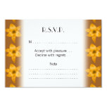 """Brown and Orange Lily Pattern. 3.5"""" X 5"""" Invitation Card"""