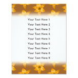 """Brown and Orange Lily Pattern. 4.25"""" X 5.5"""" Invitation Card"""