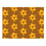 Brown and Orange Lily Pattern. Post Card
