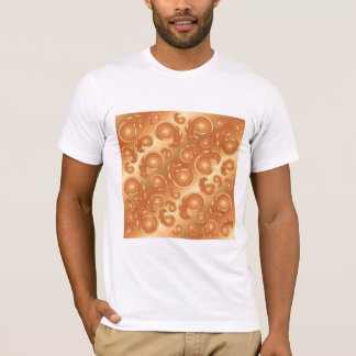 Brown and Orange Paisley Pattern T-Shirt