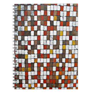 Brown and Orange Squares Notebook