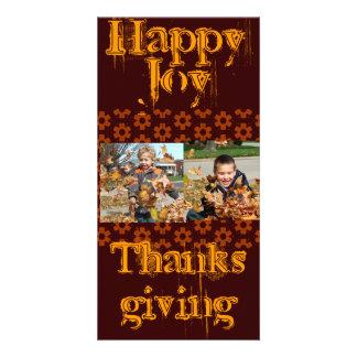 Brown and Orange Thanksgiving Photo Card