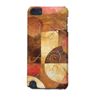 Brown and Pink Abstract Painting iPod Touch (5th Generation) Cover