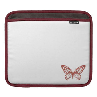 Brown and Pink Butterfly Sleeve For iPads