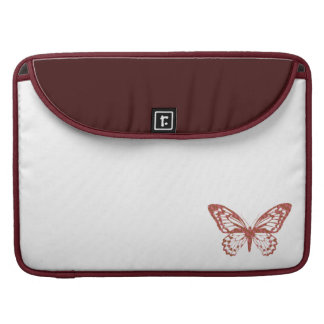 Brown and Pink Butterfly Sleeve For MacBook Pro