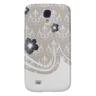 brown and pink chandelier french damask galaxy s4 cover