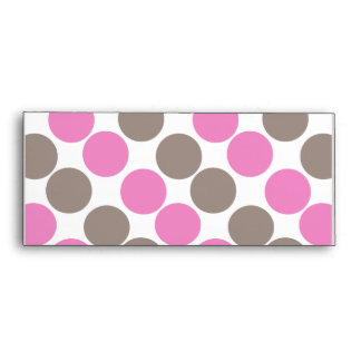 Brown And Pink Dots Envelopes