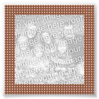 Brown and Pink Dots Frame Photo