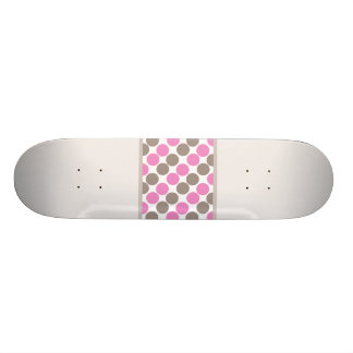 Brown And Pink Dots Skate Boards